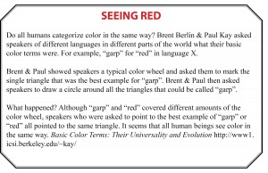How We View Ourselves & Others, Seeing Red