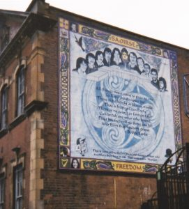 2001 Republican Mural representing ten hunger strikers who died in 1981