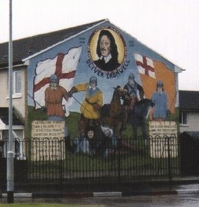 Oliver Cromwell, Protestant Loyalist 1599 - 1658 Belfast Mural photo taken 2006