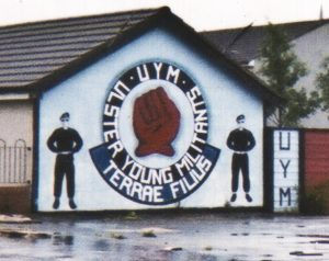 Loyalist Militia UYM Mural in Belfast